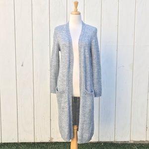 F21 long sweater cardigan